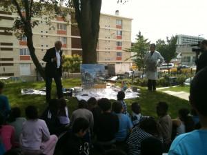 L'architecte, le peintre et nos architectes en herbes au parc Kennedy