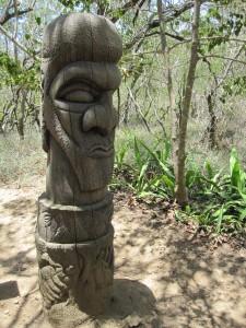 Un totem Calédonnien, Symbole d'une tribu