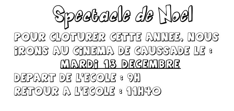 noel spectacle