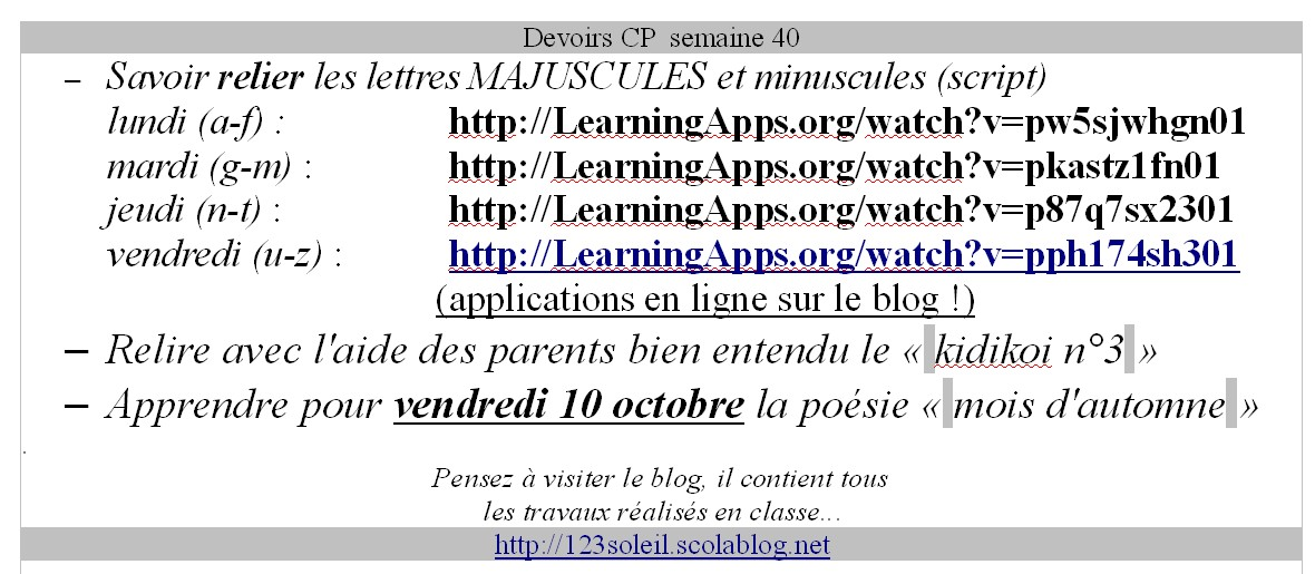 devoirs s40