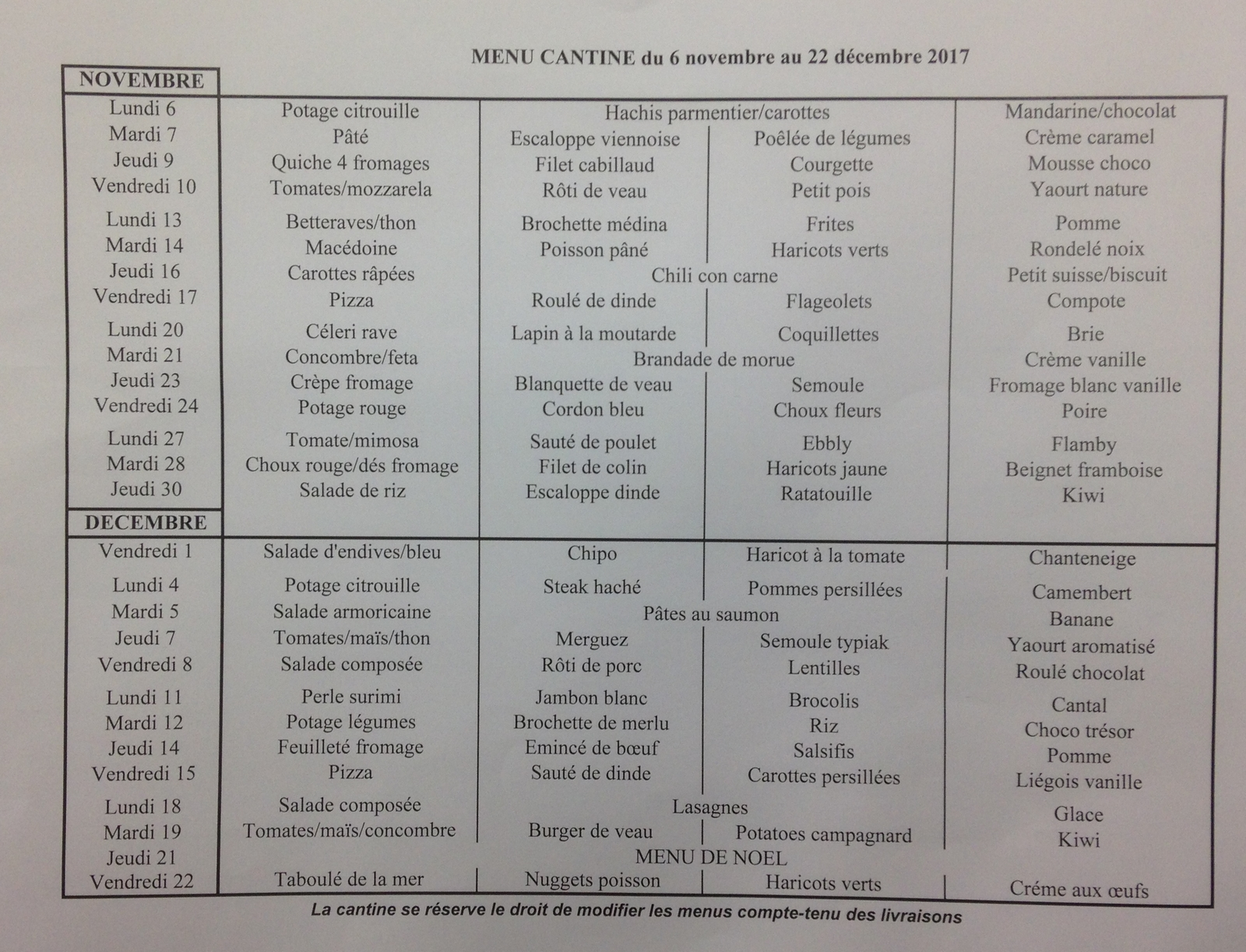 menu periode 2 17-18
