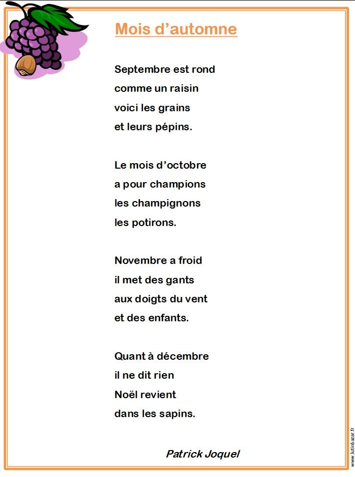 poesie novembre