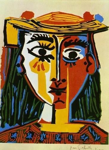 picasso buste de femme 1962