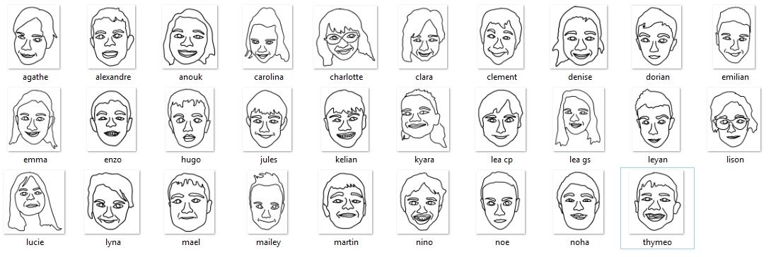 classe visage