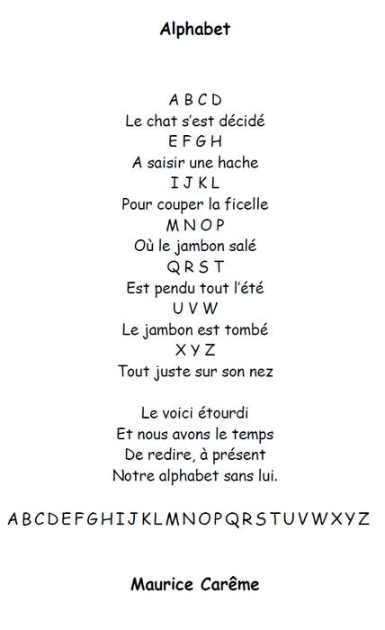 poesie alphabet