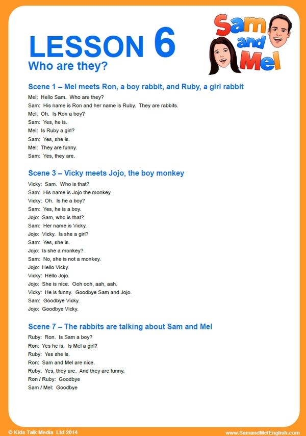 lesson 6 english
