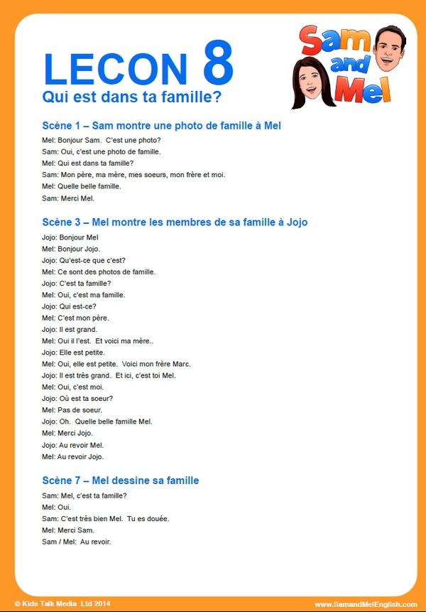 lesson 8 francais