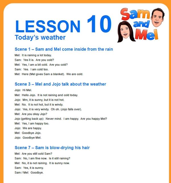 lesson 10 english