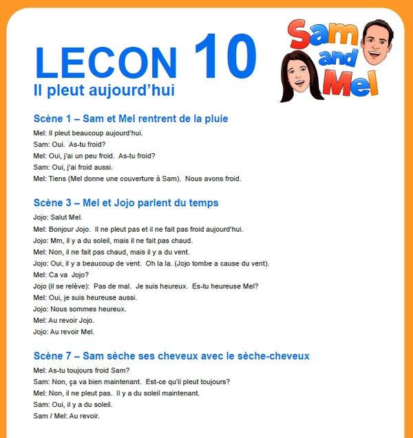 lesson 10 francais