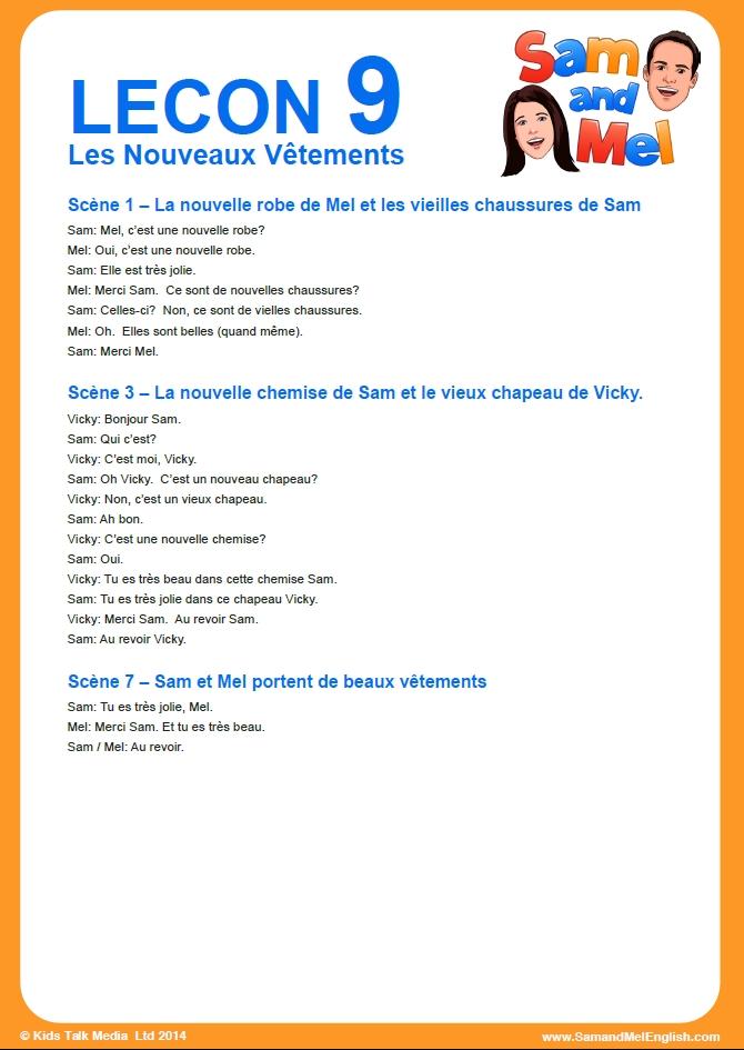 lesson 9 francais