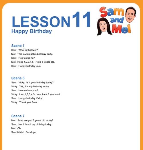 lesson 11 english
