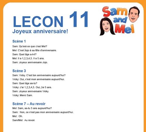 lesson11 francais