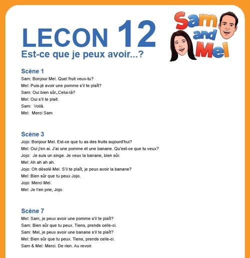 lesson 12 francais