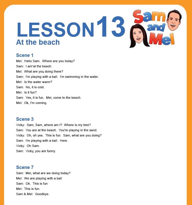 lesson 13 english