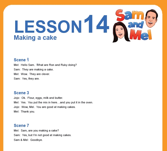 lesson 14 english