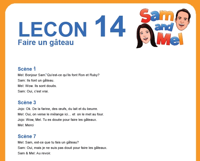 lesson 14 francais