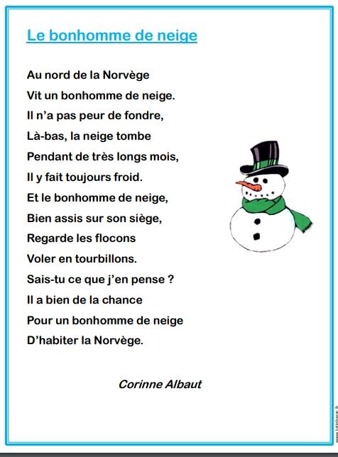 poesie hiver