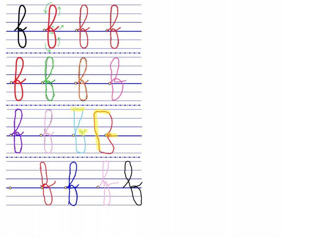 CURSIVE lettres GS-5