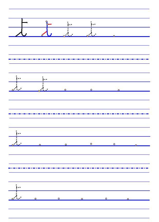 CURSIVE lettres GS-19