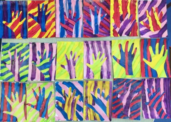 mains bi couleur